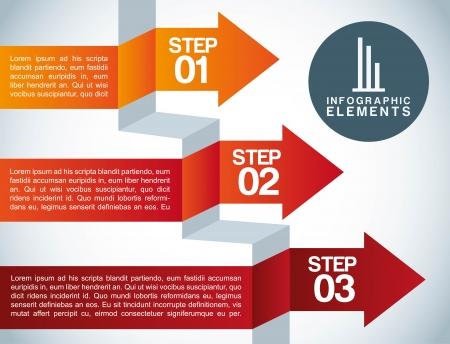 infographics design over gray  background vector illustration  Illustration