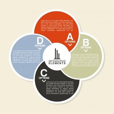 determinants: infographics design over  pink  background vector illustration