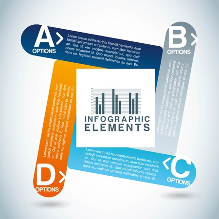 determinants: infographics design over  blue background vector illustration  Illustration