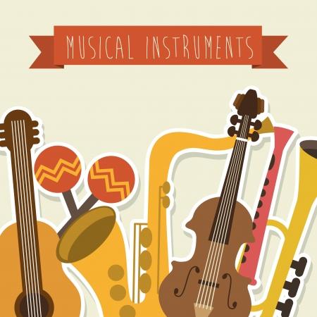 conservatory: musical design over pink background vector illustration