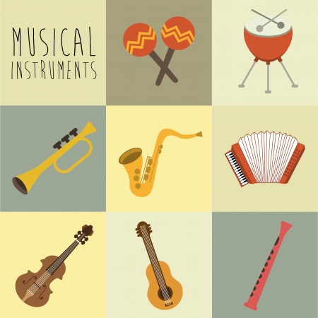 interpreter: musical design over white background vector illustration