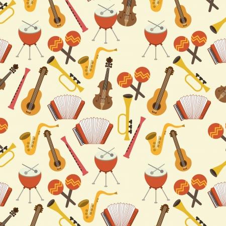 musical design over pink background vector illustration Stock Vector - 24071399