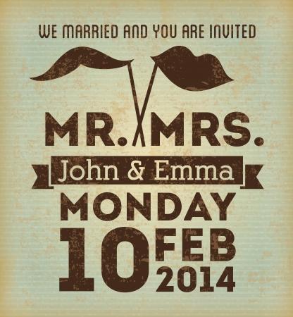marriage certificate: wedding design over vintage background vector illustration