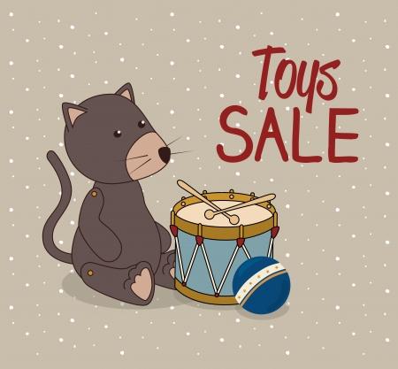 newborn rat: kids toys over  dotted background vector illustration   Illustration