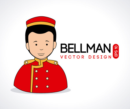 bellman design over white background vector illustration  Vector