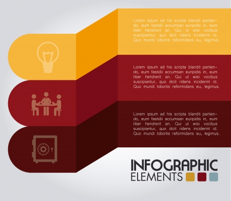 determinants: infographics design over gray background vector illustration