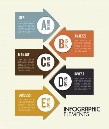 determinants: infographics design over white background vector illustration