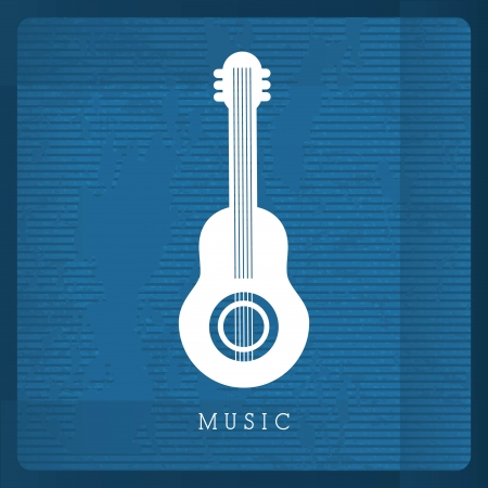 musical design over blue background vector illustration Stock Vector - 24070614