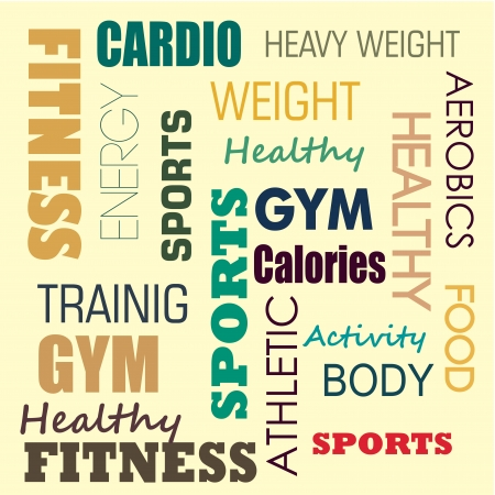fitness design over cream  background vector illustration  Vector