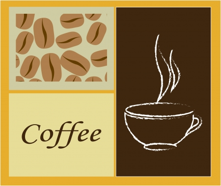 coffee design over yellow    background vector illustration Stock Vector - 24070657