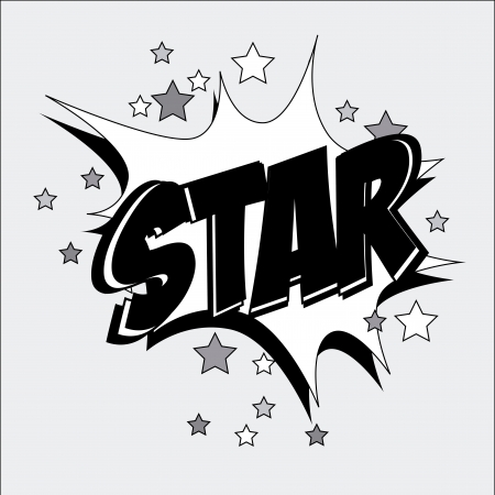 star comic over white background vector illustration  Stock Vector - 24070673