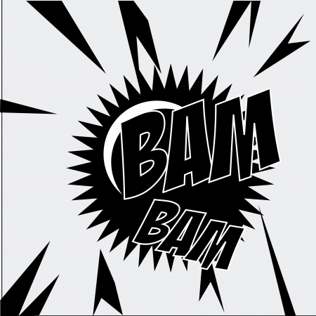 bam bam comic over gray background vector illustration  Stock Vector - 24070674