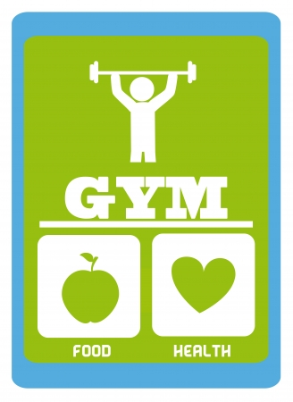 gym  design over white   background vector illustration  Vector