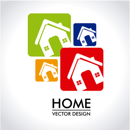 sustained: home design over gray background vector illustration