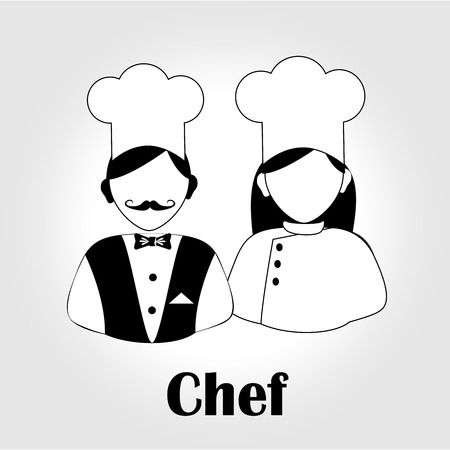 chef icon   over white background. vector illustration Illustration