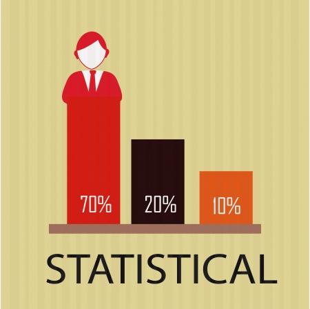 determinants: estatistical design over  beige background vector illustration   Illustration
