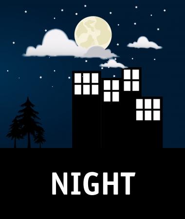 city design over night  background vector illustration Stock Vector - 24070695