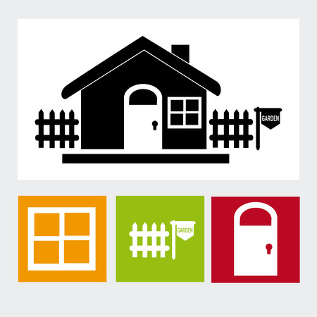 sustained: home design over white background vector illustration