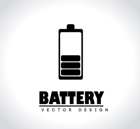 Battery design over gray background vector illustration Vector