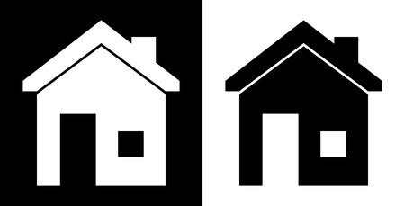 sustained: home design over white and black background vector illustration    Illustration