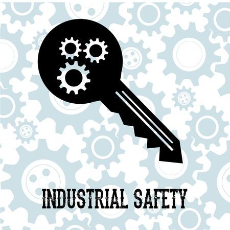 industrial safety: seguridad industrial m�s de fondo ilustraci�n vectorial Vectores