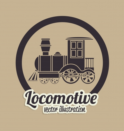 locomotive design over beige background vector illustration Vector