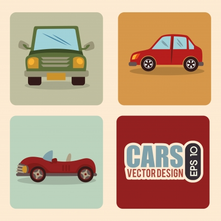 car design over pink  background vector illustration  Vector