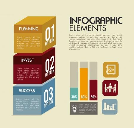 infographics design over pink background vector illustration