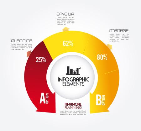 infographics design over white background vector illustration