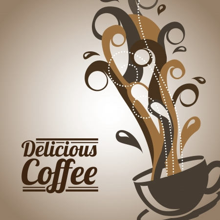 coffee design over bronze background vector illustration