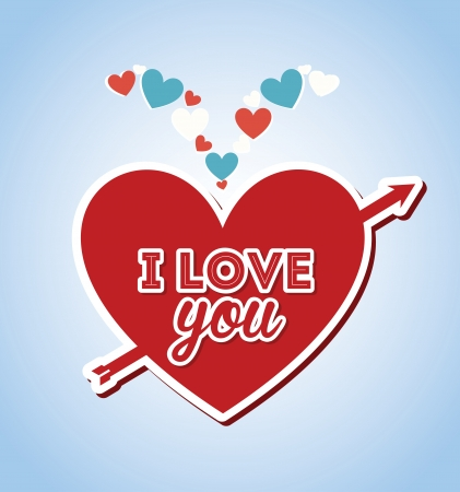 love design over blue background vector illustration   Vector