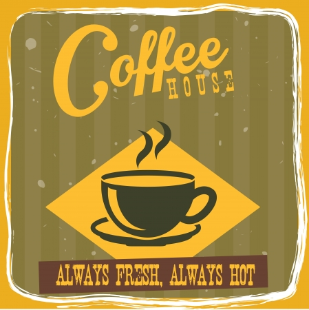 time frame: coffee design over yellow background vector illustration