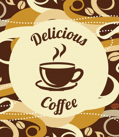 coffee design over  pattern  background vector illustration