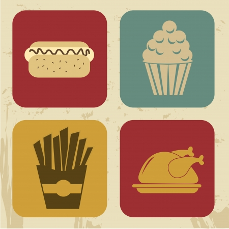 fast food design over cream background vector illustration Vector