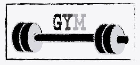 fitness design over  white background vector illustration  Vector