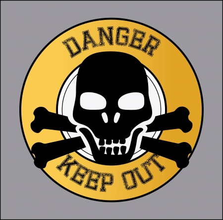 danger design over gray  background vector illustration  Vector