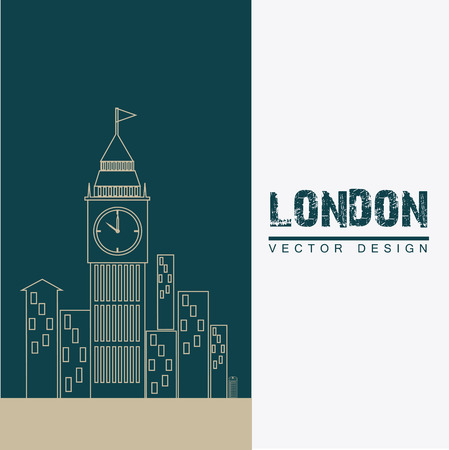 london design over white background vector illustration Vector
