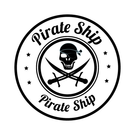 pirate design over white background vector illustration