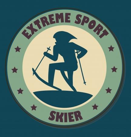 extreme sport over blue  background vector illustration