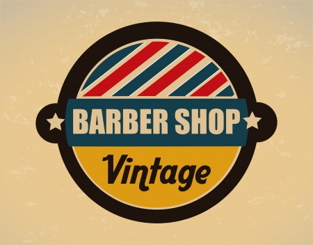 barber shop over vintage background vector illustration  Stock Vector - 24318990