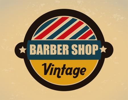 barber shop over vintage background vector illustration Stock Vector - 24318990