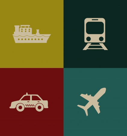 transport icon: transport icon over colors background vector illustration