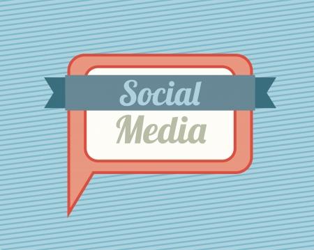 tele communication: social media over lineal background vector illustration