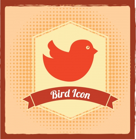 bird design over   background vector illustration  Vector