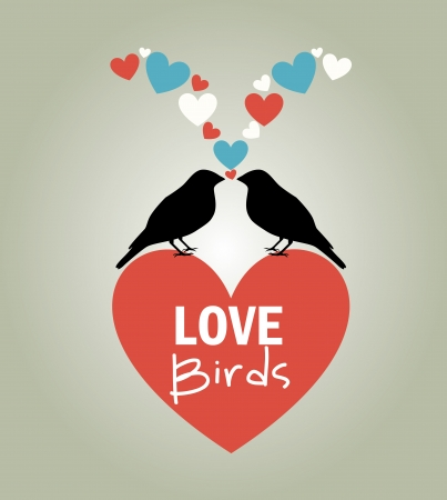 sweet couple: love design over gray background vector illustration  Illustration