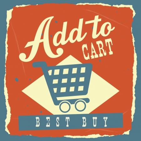 add to cart over blue  background. vector illustration Stock Vector - 24319253