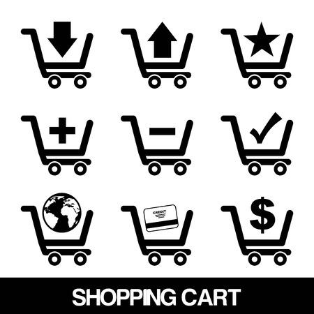 shopping  design over white  background. vector illustration Stock Vector - 24319280
