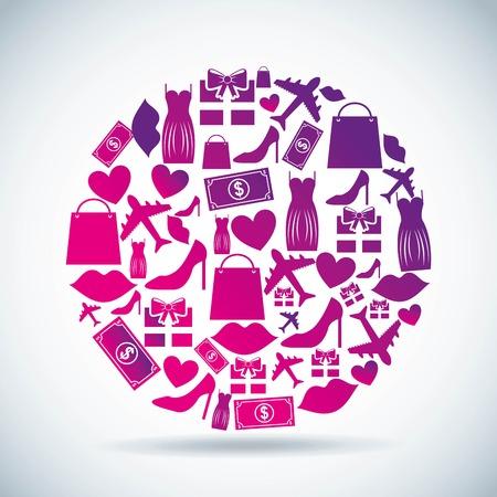shopping  design over gray  background. vector illustration Vector