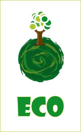 eco design over white background vector illustration  Vector