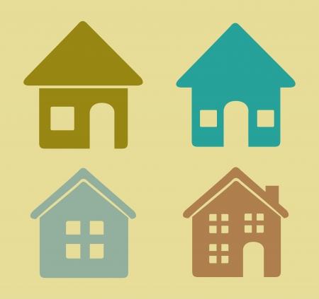 sustained: home design over  beige background vector illustration